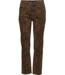 cult pant tan leopard print raka jeans brun t by alexander wang