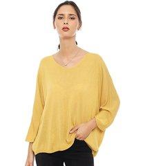 sweater privilege amarillo - calce oversize