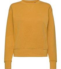original c-neck sweat sweat-shirt trui goud gant