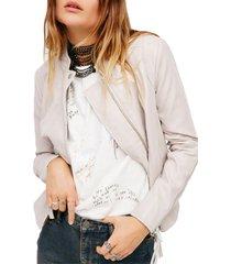 women's free people clean & minimal jacket, size x-large - white