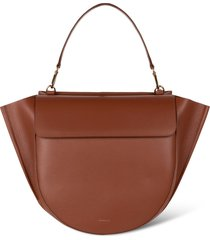wandler hortensia big shoulder bag - brown