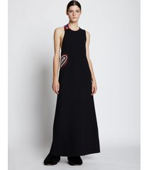 proenza schouler crepe crochet border dress black 6