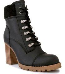 sugar women's rory heeled lug sole hiker booties women's shoes