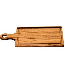 tábua com cabo para churrasco - madeira muiracatiara tramontina 13069100