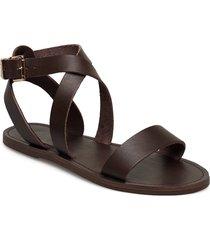 leelah shoes summer shoes flat sandals grå dune london
