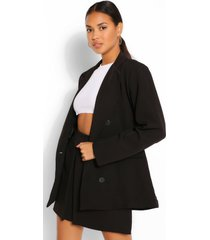 double breasted oversized blazer, black