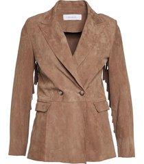 jacket & coats be21 6512 fringe suede 11