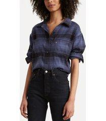 levi's women's maple cotton plaid utility shirt