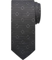 joseph abboud voyager black retro stripe narrow tie
