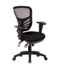 cadeira de escritório diretor giratória mundi nr17 preta