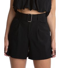 juicy couture women's belted shorts - black - size m