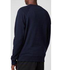 maison kitsuné men's tricolor fox patch clean sweatshirt - navy - m