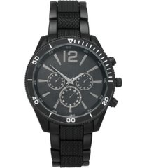 inc men's matte black bracelet watch 48mm, created for macy's