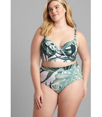 lane bryant women's mid-waist swim brief 26 grand palms