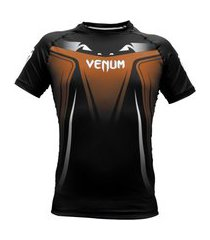 rash guard venum no gi 3.0 - manga curta - marrom .