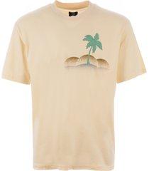 edwin palm tree t-shirt - vanilla i026758