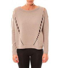trui vero moda parma new ls oversize blouse 10119636 écru