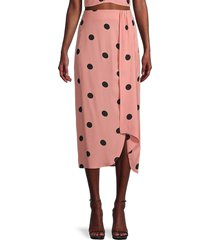 bb dakota women's naturally dotty skirt - burnt coral - size 8