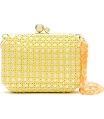 isla straw clutch - yellow
