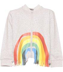 stella mccartney zip up sweatshirt rainbow fringes