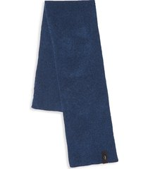 roberto cavalli men's wool blend scarf - night blue