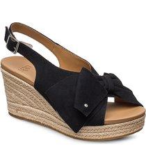 w ysidra sandalette med klack espadrilles svart ugg