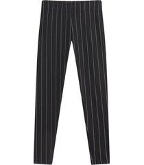 leggings mujer estampado rayas color negro, talla l