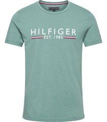 hilfiger 1985 tee t-shirts short-sleeved grön tommy hilfiger