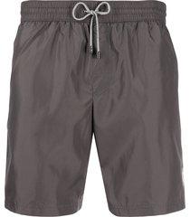 dolce & gabbana zipped pocket swim shorts - grey