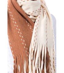 women's stitched fringe scarf
