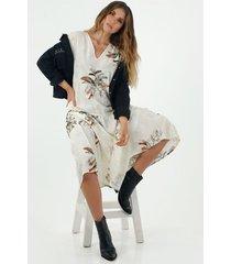 vestido  para mujer tennis, largo con estampado de flores