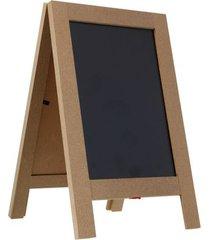 cavalete mdf mini lousa 15,5x25x2cm
