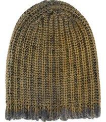 avant toi ribbed knit beanie - green