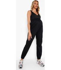 zwangerschap cargo broek met elastische taille, black