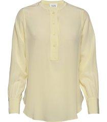 thori ls new blouse blouse lange mouwen geel second female