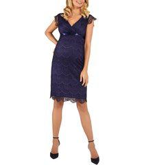 women's tiffany rose imogen maternity cocktail dress, size 2 - blue