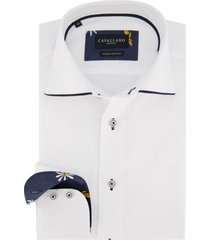 cavallaro overhemd wit slim fit