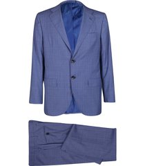 blue wool two-piece suit