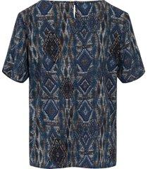 blouseshirt met korte mouwen van peter hahn multicolour