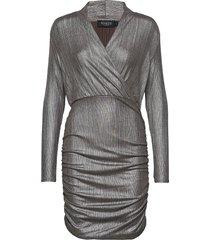 slmieko mini dress ls jurk knielengte zilver soaked in luxury