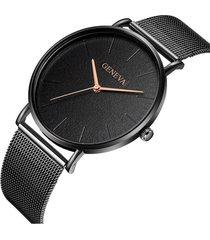 reloj ultrafino mujer acero pulso malla analogico 224