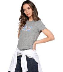 camiseta gris-multicolor levis
