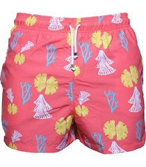 pantaloneta de baño rosa regata beachwear islas del rosario