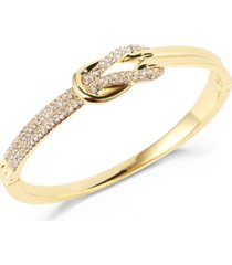 charter club gold-tone pave knot box bracelet, created for macy's