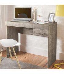 mesa escrivaninha cooler 1 gaveta canela - artely