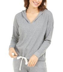 alfani women's thermal v-neck pajama hoodie, created for macy's