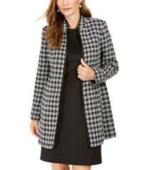 kasper houndstooth printed topper jacket
