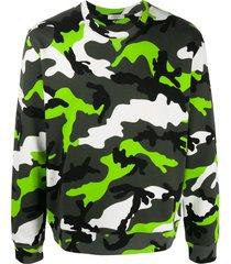 valentino camouflage print sweatshirt - green
