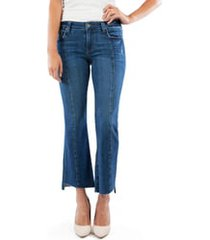 women's kut from the kloth kelsey center seam crop kick flare jeans