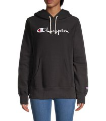 champion women's logo embroidery sweatshirt - elegant magenta - size xs